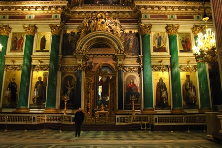 iconostasis: Iconostasis from St. Isaacs Cathedral