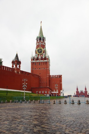 spassky: July 7, 2015, Moscow, Russia. View of Red Square and the Spassky area.