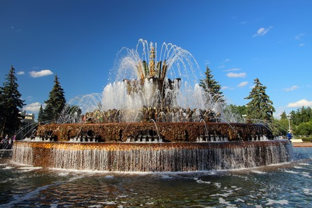 exhibition complex: Fountain Stone Flower, located on the territory of the exhibition complex in Moscow Editorial