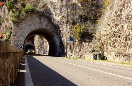 2 november: Riva del Garda, Italy, 2 November 2015, The tunnel is laid in the mountains around Lake Garda.