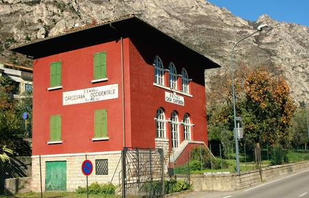 2 november: Limone sul Garda, Italy, 2 November 2015, The building roadhouse.
