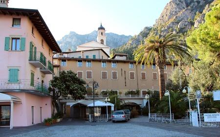 2 november: Lemon sul Garda, Italy, 2 November 2015,  View of the hotel from the shores of Lake Garda.