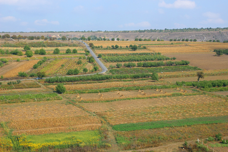 Beautiful views of autumn fields of Moldova.