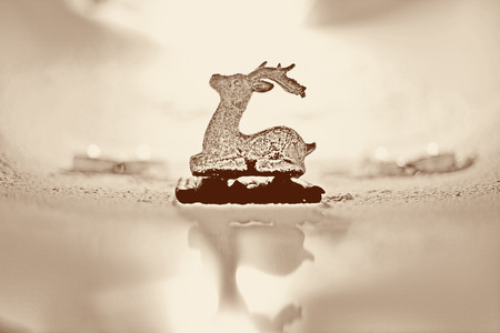 glister: detail photo of christmas reindeer Stock Photo