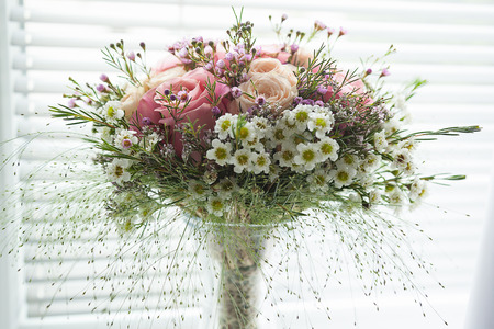 Small pink rustical flower bouquet made of roses and field flowers small pink rustical flower bouquet made of roses and field flowers stock photo 68076390 mightylinksfo