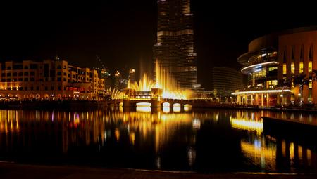 Dubai Fountain Show At Night, UAE
