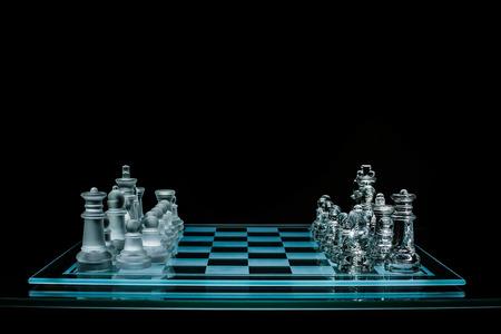 Side view of chess board Stock Photo