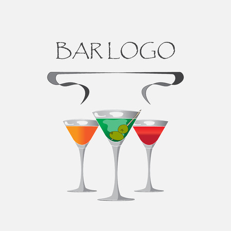 Vector picture, bar logo on a white background.