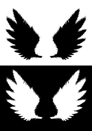 set of wings Illustration