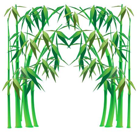 haltbarkeit: Bambus-arch Illustration
