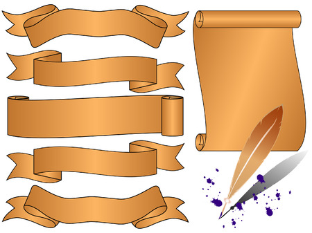 set of ancient banners Vector