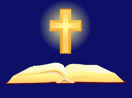 fondos religiosos: Biblia y Cruz