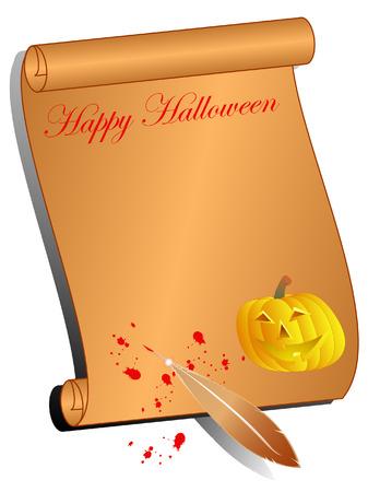 halloween background with pumpkin