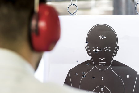 holes: Shooting Target Black Human Silhouette with Holes