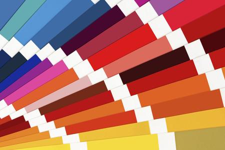 Color Palette Guide Close Up. Colorful Catalogue.