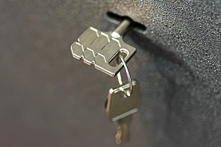 Key in Lock Safety Deposit Box