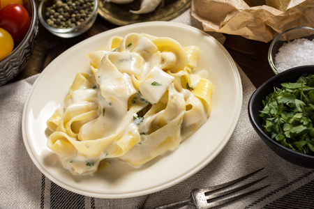 Pappardelle Pasta with Creamy Alfredo Sauce