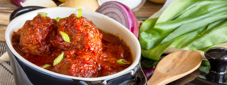 Meatballs with Sweet and Sour Tomato Sauce
