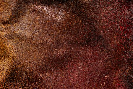 Old Rusty Red Metal Corrosion Oxidized Texture Surface. Rusted Iron Grunge Abstract Background.