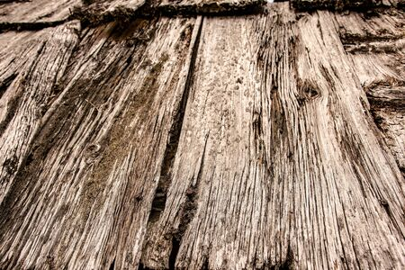 Old Gray Grunge Wooden Roof Texture and Vintage Background Surface