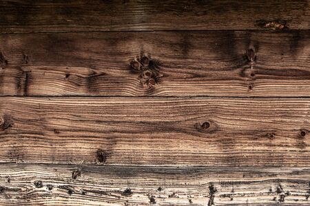 Brown Wall Planks Texture and Background. Empty Old Vintage Wooden Grunge Surface.
