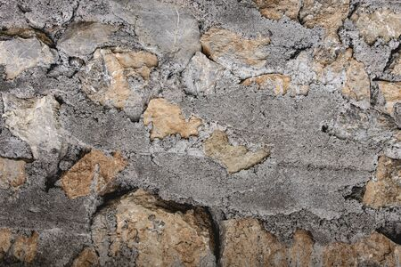Stone and Cement Wall Background and Texture. Natural Design Concept.