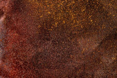 Metal Corrosion Rusty Oxidized Old Texture Surface. Grunge Rusted Iron Abstract Background.