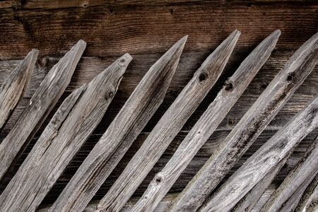 Vintage Old Wooden Fence Texture and Grunge Background Surface
