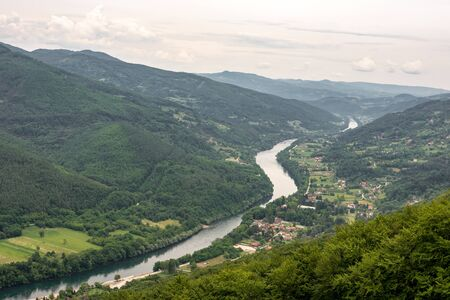 Drina River in the Green Valley of Tara National Park