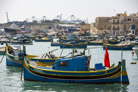 Traditional maltese fishing boat