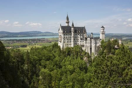 neuschwanstein: Neuschwanstein Castle in Bavaria, Germany  Editorial