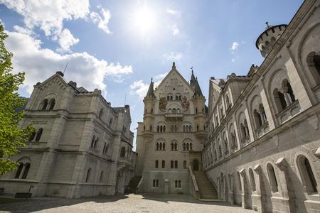 schloss: Neuschwanstein Castle in Bavaria, Germany  Editorial