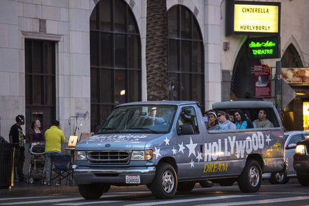 dolby: HOLLYWOOD - January 3  People on a sightseeing tour near Dolby Theatre on January 3, 2014 in Los Angeles, California