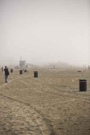 VENICE, UNITED STATES - January 3  Foggy day near Venice Beach on January 3, in Los Angeles, California