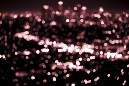 Bokeh lights from a modern city Stock Photo