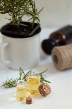 Rosemary essential oil for cooking and skin care Stock fotó
