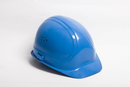 security helmet: Safety-gear on white