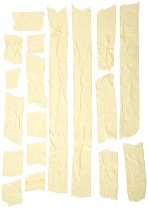 adhesive tape: Old grunge masking tape strips