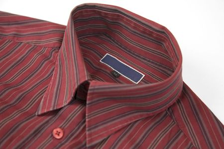 details of striped shirt with blank label Stock Photo - 7024079