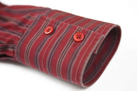 close up of the red cuff from striped shirt Stock Photo - 7024078