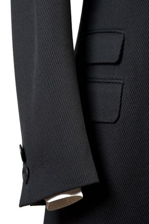 overcoat: close-up of elegant overcoat, detail of cuf and pocket Stock Photo