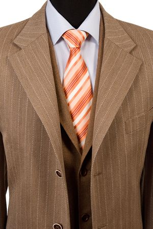 neck ties: front view of elegant suit, business fashion Stock Photo