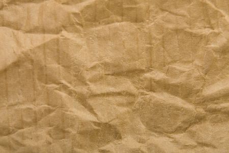 copy-space, texture of cardboard crumpled brown paper photo