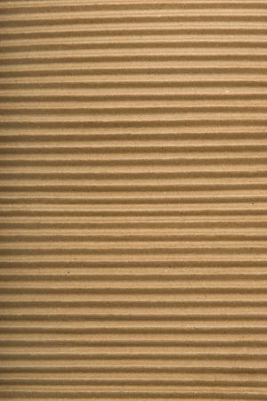 brown corrugated cardboard texture, striped horizontally paper Stock Photo - 7165601