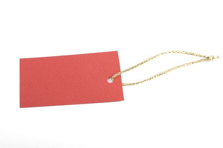 copy-space on red blank tag, shopping notice Stock Photo - 7165591