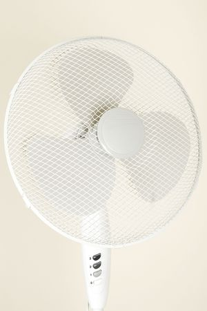 isolated fan, ventilator for hot summer days photo
