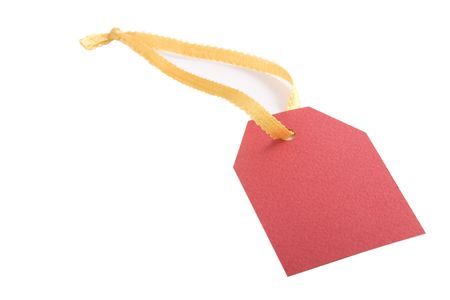 red blank tag for products on white background  Stock Photo - 7201018