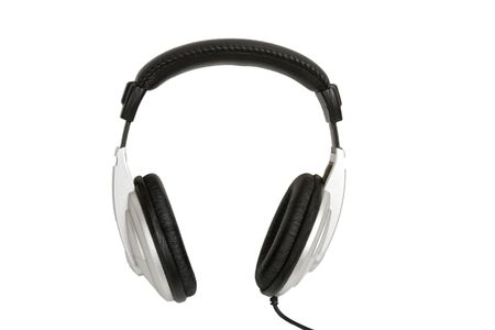 front view of dj headset on white background photo