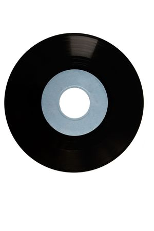 front view of black vinyl with blue label Stock Photo - 7232591