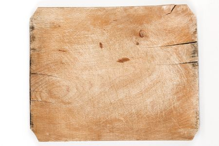 timber cutting: old wooden board with cracks and age marks